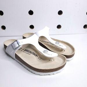 New Birkenstock Gizeh White Sandals